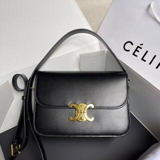 celine - CELINE セリーヌ トリオンフ ミディアム ショルダーバック 黒