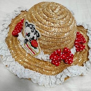 グラグラ(GrandGround)のグラグラ麦わら帽子48cm(帽子)