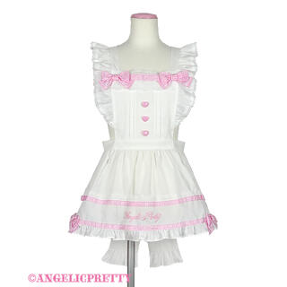 Angelic Pretty - Angelic Pretty Fancy Ribbonエプロン シロ×ピンク