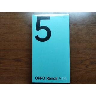 OPPO - 【SIMフリー版 DualSIM対応】OPPO Reno5 A シルバーブラック