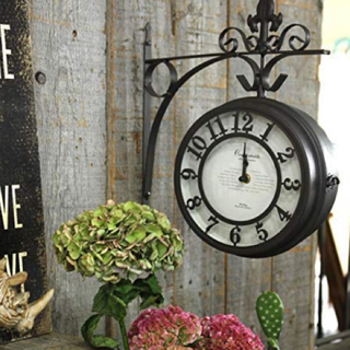 新品 アンティークアイアン 壁掛け時計