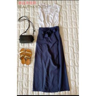 ビューティアンドユースユナイテッドアローズ(BEAUTY&YOUTH UNITED ARROWS)の新品未使用☆ビューティアンドユース ロングスカート☆イエナ ドゥーズィエムクラス(ロングスカート)