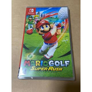 ニンテンドースイッチ(Nintendo Switch)の新品未開封 マリオゴルフ スーパーラッシュ Switch(家庭用ゲームソフト)