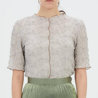 mame - ¥16,500 21SS MURRAL Sheer Crumpled Top