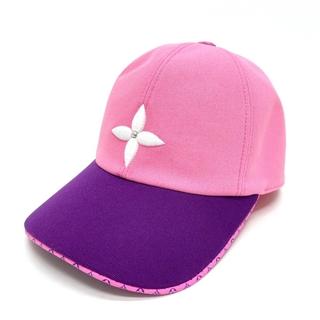 ルイヴィトン(LOUIS VUITTON)のルイヴィトン MP3081 モノグラムフラワー キャップ プレイ 帽子 ピンク(キャップ)