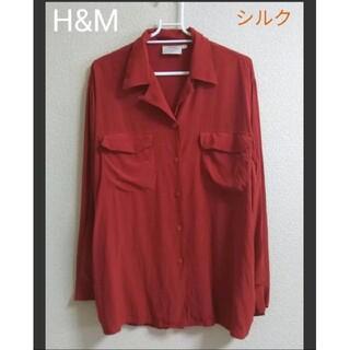 H&M - H&M シルクブラウス 赤