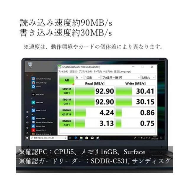 32GB microSDカード Class10 UHS-I U3 送料無料 スマホ/家電/カメラのスマートフォン/携帯電話(その他)の商品写真