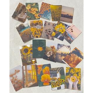 付箋 素材 向日葵🌻 黄色オレンジ💛🧡20枚セット