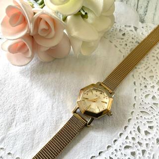 agete - 【動作OK】agete アガット 腕時計 オクタゴン イエローゴールド