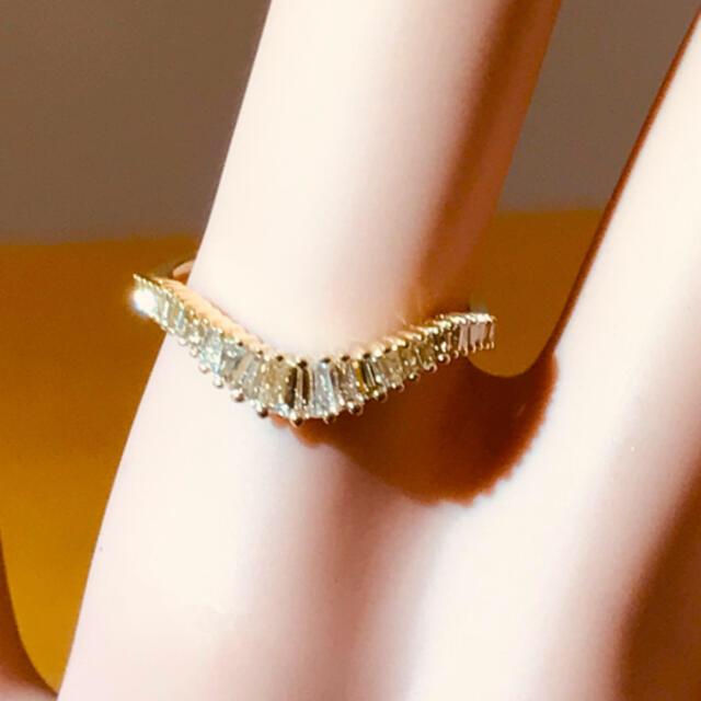 ☆K18 テーパーダイヤリング☆ レディースのアクセサリー(リング(指輪))の商品写真