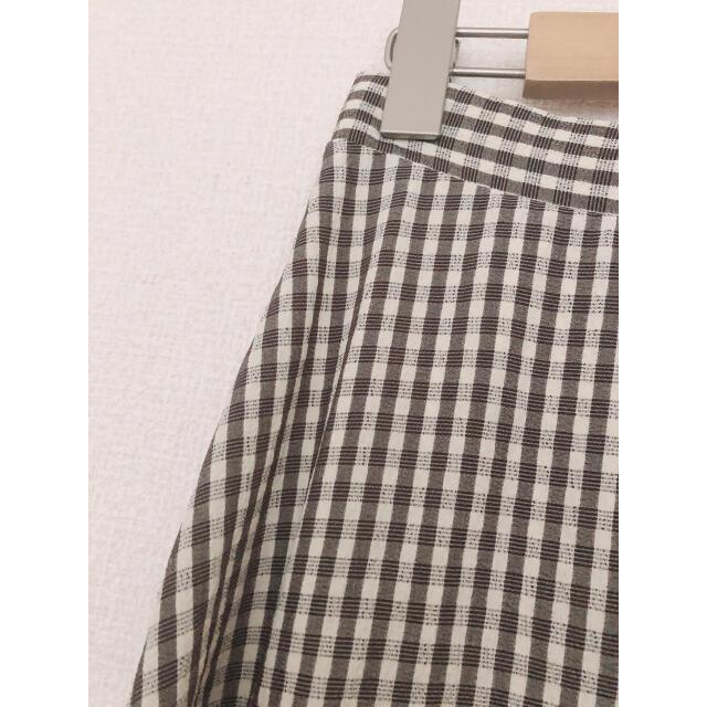 Lochie(ロキエ)の【古着】ギンガムチェック柄 ロングスカート レディースのスカート(ロングスカート)の商品写真