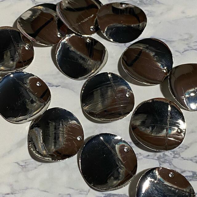 訳あり!シルバーラウンドパーツ ハンドメイドの素材/材料(各種パーツ)の商品写真