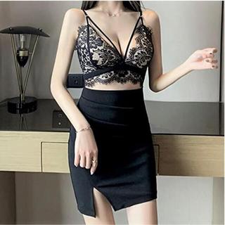 【本日限定セール】エンジェルアール系♡韓国 胸元セクシーキャバドレス 黒