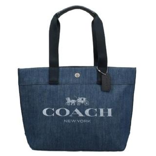 COACH - コーチCOACHデニム素材にコーチのロゴプリントトートバッグ