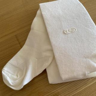 ディオール(Dior)のDior ベビータイツ 白 95(靴下/タイツ)