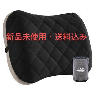 携帯枕 キャンプまくら 空気枕 腰枕 超軽量 コンパクト 収納袋付き