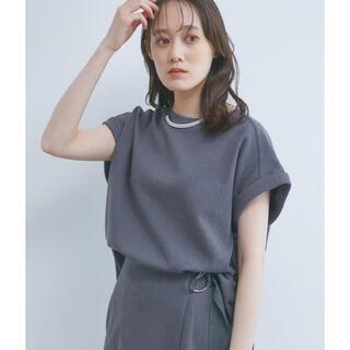 ヴィス(ViS)の【即日発送】vis ジャカードクルーネックTシャツ(Tシャツ(半袖/袖なし))