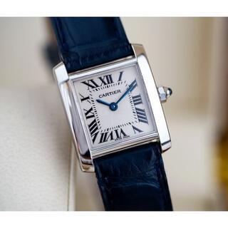 Cartier - 美品 カルティエ タンク フランセーズ 18KWG 無垢 ローマン SM