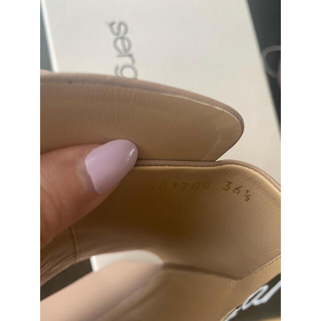 Sergio Rossi(セルジオロッシ)の新品未使用 セルジオロッシ  sr1ピンクベージュサンダルミュール レディースの靴/シューズ(サンダル)の商品写真