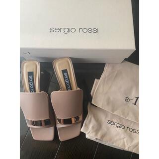 Sergio Rossi - 新品未使用 セルジオロッシ  sr1ピンクベージュサンダルミュール