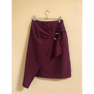 フレイアイディー(FRAY I.D)の巻きスカート 美品(ひざ丈スカート)