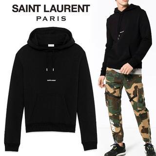 サンローラン(Saint Laurent)の1 SAINT LAURENT ブラック パーカー フーディ size L(パーカー)
