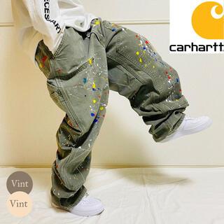 carhartt - 一点モノ カーハート リメイク ペイント ダブルニー バギー ペインターパンツ