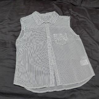 リリーブラウン(Lily Brown)のストライプ シアーシャツ(シャツ/ブラウス(半袖/袖なし))
