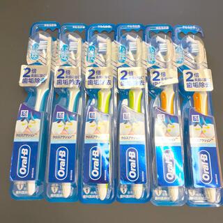 ピーアンドジー(P&G)の【新品】6本 歯ブラシ オーラルビー クロスアクション コンパクト やわらかめ(歯ブラシ/デンタルフロス)