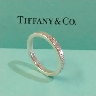 Tiffany & Co. - 美品です。希少!大きいサイズ  TIFFANY ナローノーリツリング(16号)