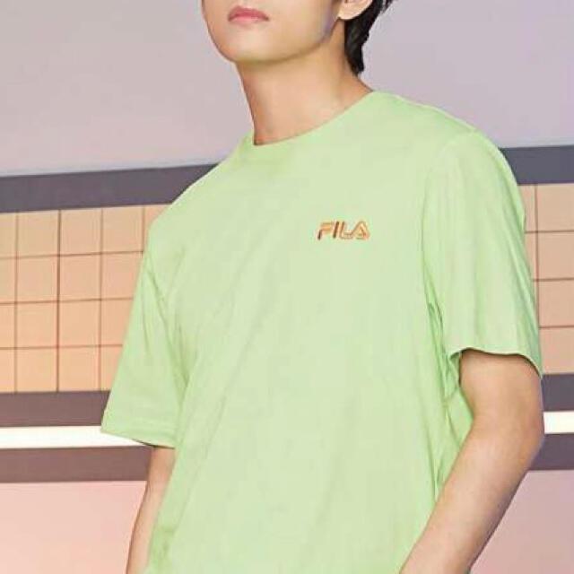 FILA(フィラ)のFILA BTSコラボTシャツ  正規品 2枚セット 新品タグ付き 最終値下げ メンズのトップス(Tシャツ/カットソー(半袖/袖なし))の商品写真