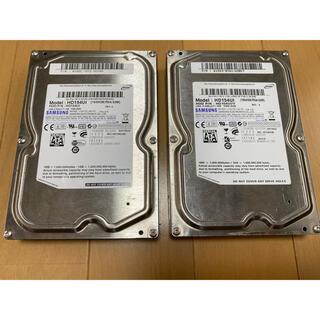 SAMSUNG - HDD ハードディスク 1.5TB×2 3TB Samsung サムスン