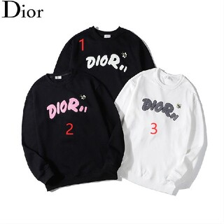 Dior - 2枚1000円引 DIOR ディオール ロゴ付き スウェット 新品