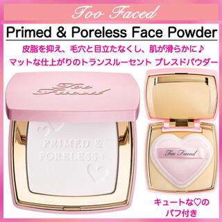 Too Faced - ◆新品◆ Too Faced プライムド & ポアレス+ フェイス パウダー