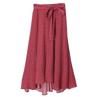 トランテアンソンドゥモード(31 Sons de mode)のドットサテンフィッシュテールスカート(ロングスカート)