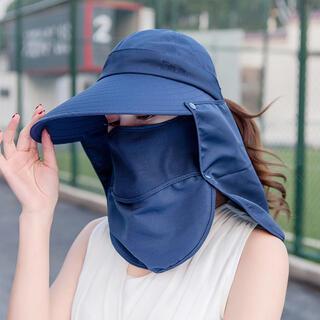 サンバイザー ひよけ帽子 美白維持 日焼け止め フェイスカバー 日傘 つば広帽子