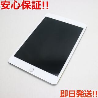 アップル(Apple)の美品 au iPad mini 4 Cellular 16GB シルバー (タブレット)