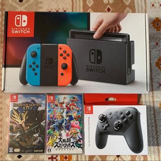 Nintendo Switch - switch 本体 ホリパッド モンハン スマブラ
