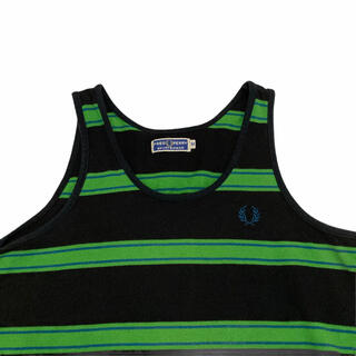 FRED PERRY - FRED PERRY 80's BORDER LOGO TANK-TOP