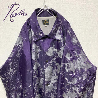 Needles - 【美品】20SS ニードルス needles コーチジャケット ペイント 紫
