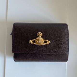 Vivienne Westwood - 【ヴィヴィアンウエストウッド】三つ折り財布 レザー ブラウン 正規品