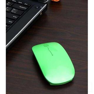 999円→777円 ☆携帯性抜群☆ 超薄型 ワイヤレス マウス グリーン