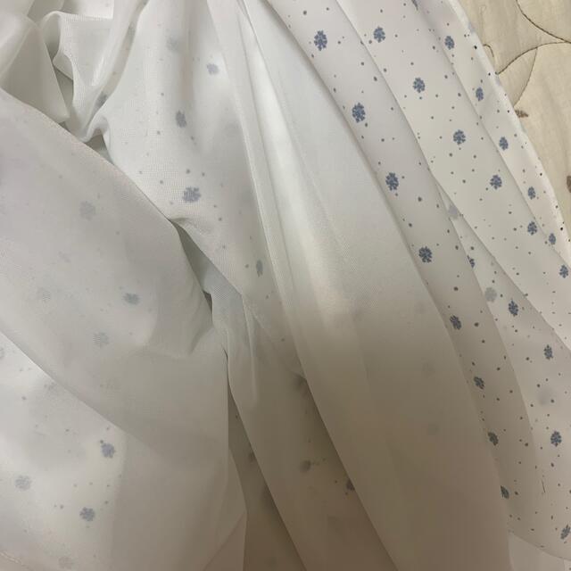 Mila Owen(ミラオーウェン)の極美品♡ミラオーウェン小紋柄Vネックノースリワンピース白ロングワンピースs レディースのワンピース(ロングワンピース/マキシワンピース)の商品写真