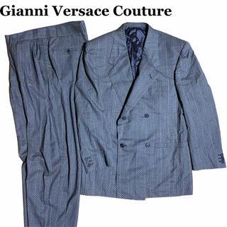 ジャンニヴェルサーチ(Gianni Versace)のヴェルサーチ カジュアル セットアップ ダブル グレー Lサイズ 菅田将暉(セットアップ)