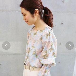 IENA - IENA リバティロングスリーブ2wayシャツ