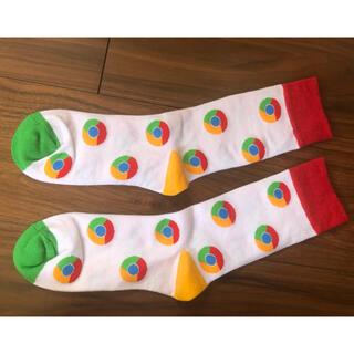 Google - google crome ノベルティー 靴下
