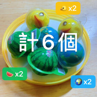 DaDa6個セット 地球グミ アヒルグミ スイカグミ お菓子ASMR Gummi(菓子/デザート)