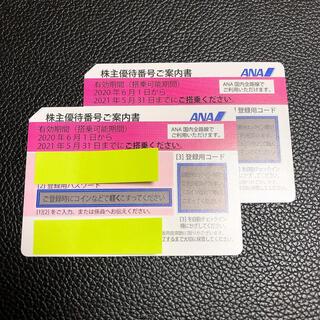 エーエヌエー(ゼンニッポンクウユ)(ANA(全日本空輸))のANA 全日本空輸 株主優待券 2枚(航空券)