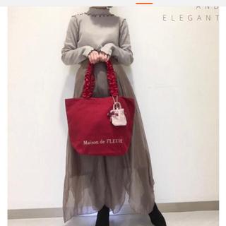 メゾンドフルール(Maison de FLEUR)のメゾンドフルール トートバッグ 赤色 新品(トートバッグ)