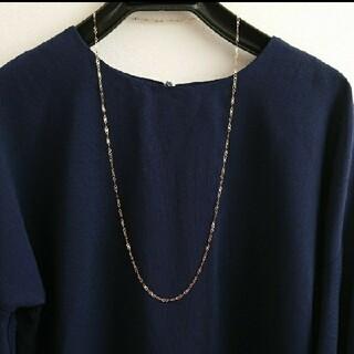 【k18 】Infinity  ロング ネックレス 80cm 3.4g